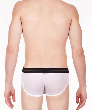La Intimo White Men Regular Nylon Spandex Briefs