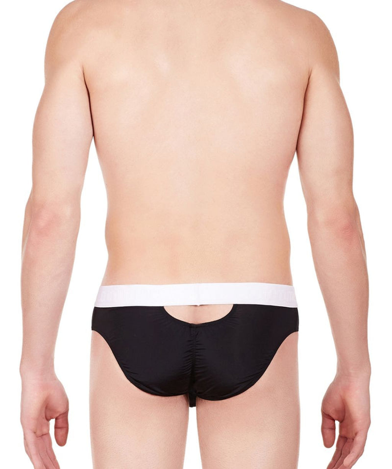 La Intimo Black Men Stylish Nylon Spandex Briefs