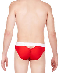 La Intimo Red Men Stylish Nylon Spandex Briefs