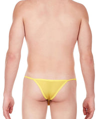 La Intimo Yellow Men Regular Nylon Spandex Briefs