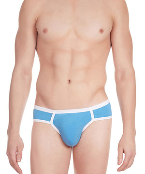 La Intimo Blue Men Archaic Brief Cotton Modal Spandex Briefs