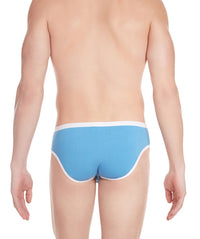 La Intimo Blue Men Regular Cotton Modal Spandex Briefs