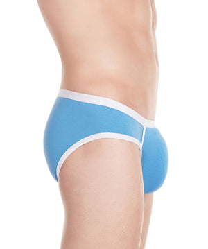 La Intimo Blue Men Stylish Brief Cotton Modal Spandex Briefs