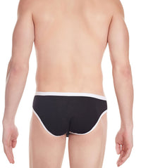 La Intimo Black Men Regular Cotton Modal Spandex Briefs