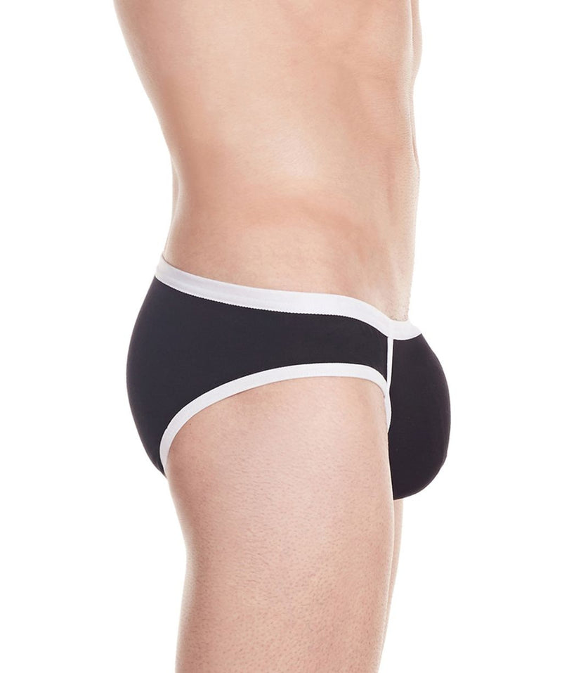 La Intimo Black Men Stylish Brief Cotton Modal Spandex Briefs