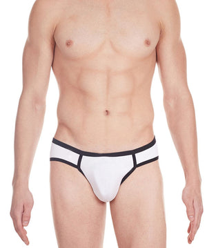 La Intimo White Men Archaic Brief Cotton Modal Spandex Briefs