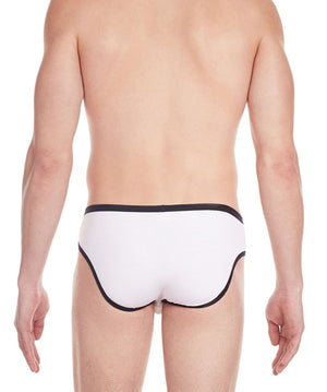 La Intimo White Men Regular Cotton Modal Spandex Briefs