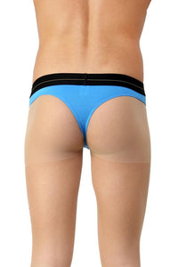 La Intimo Blue Men Minimizer Cotton Modal Spandex Thong