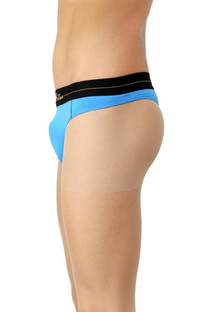 La Intimo Blue Men Intimate Cotton Modal Spandex Thong