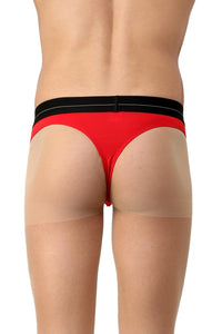 La Intimo Red Men Minimizer Cotton Modal Spandex Thong