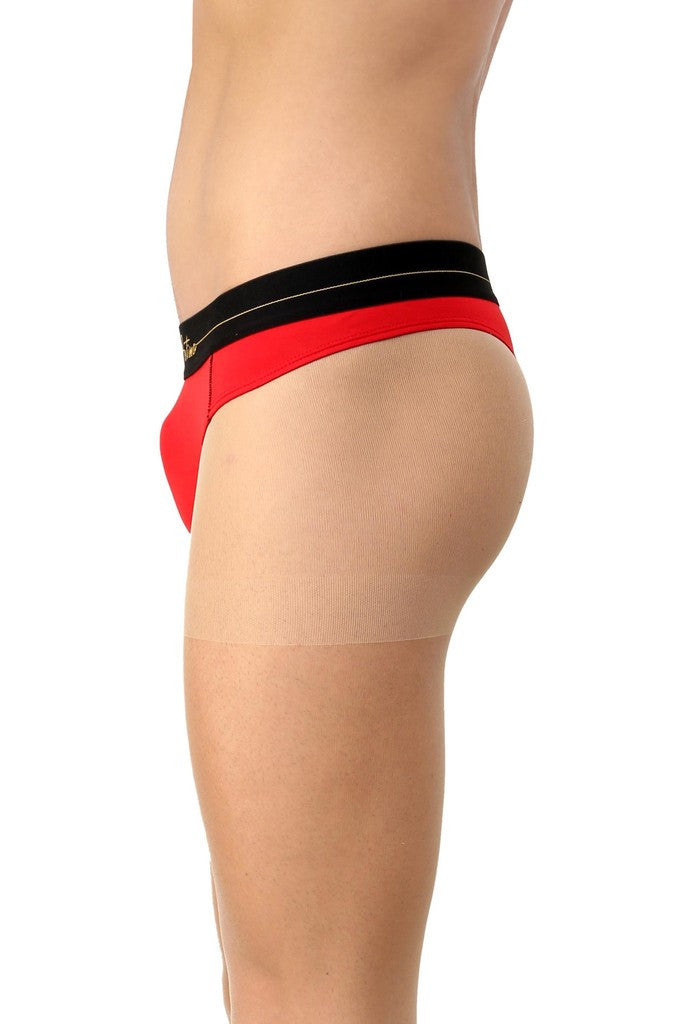 La Intimo Red Men Intimate Cotton Modal Spandex Thong