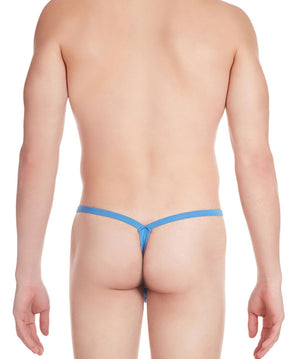 La Intimo Blue Men Intimate Polyester Spandex Thong