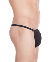 La Intimo Black Men Minimizer Thong Polyester Spandex Thong