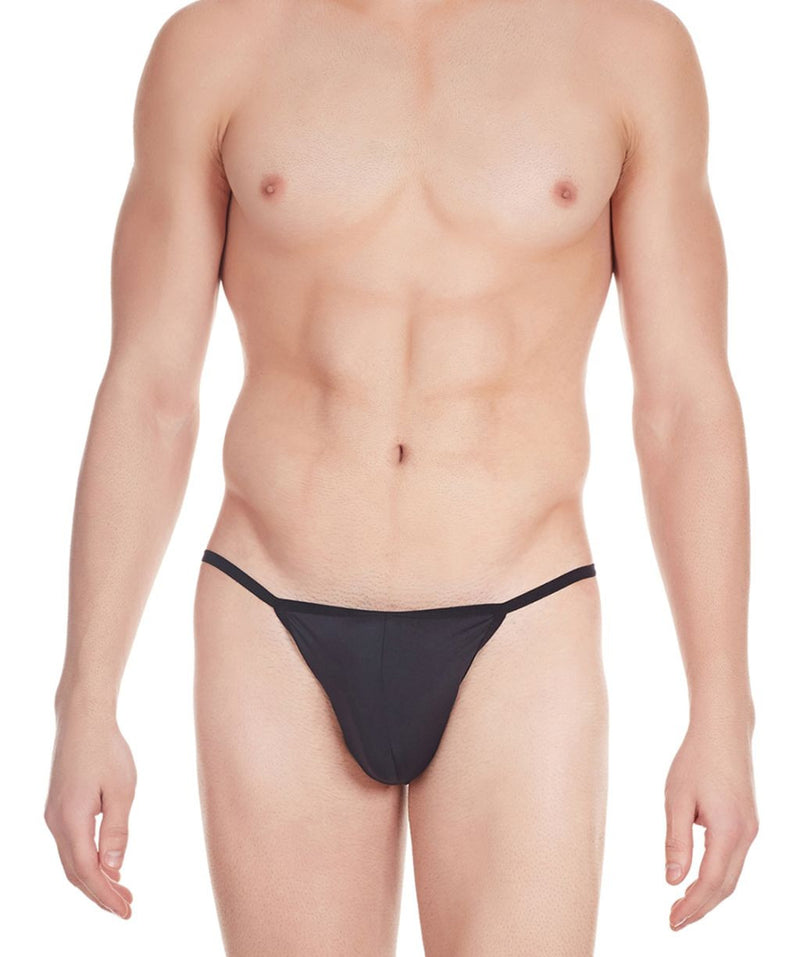 La Intimo Black Men V-Thong Nylon Spandex Thong
