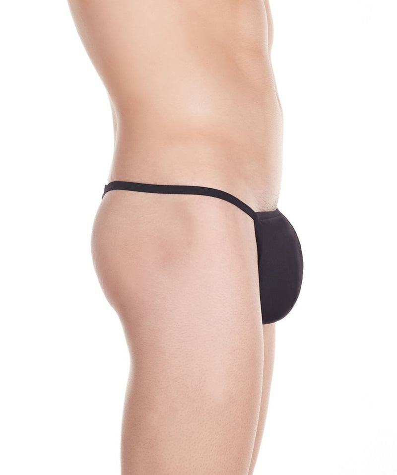 La Intimo Black Men Minimizer Thong Nylon Spandex Thong