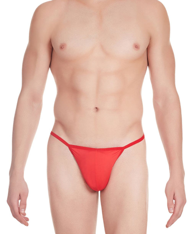 La Intimo Red Men V-Thong Nylon Spandex Thong