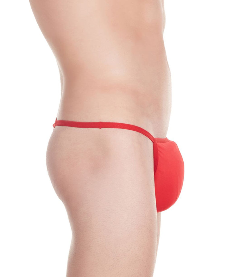 La Intimo Red Men Minimizer Thong Nylon Spandex Thong