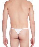 La Intimo White Men Intimate Nylon Spandex Thong