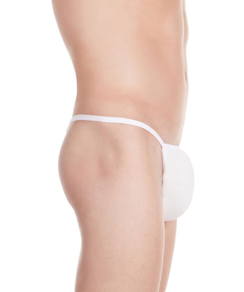 La Intimo White Men Minimizer Thong Nylon Spandex Thong