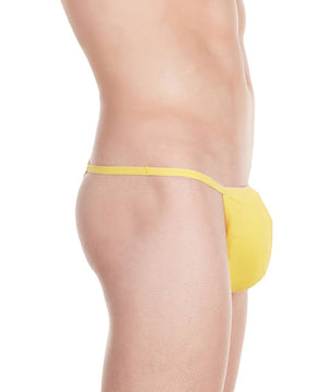 La Intimo Yellow Men Minimizer Thong Nylon Spandex Thong