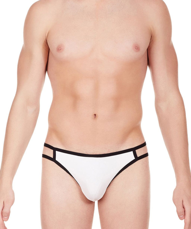 La Intimo White Men Gusset Thong Nylon Spandex Thong