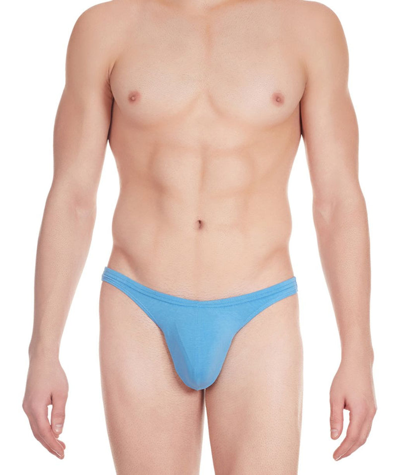 La Intimo Blue Men Comfy Thong Cotton Spandex Thong