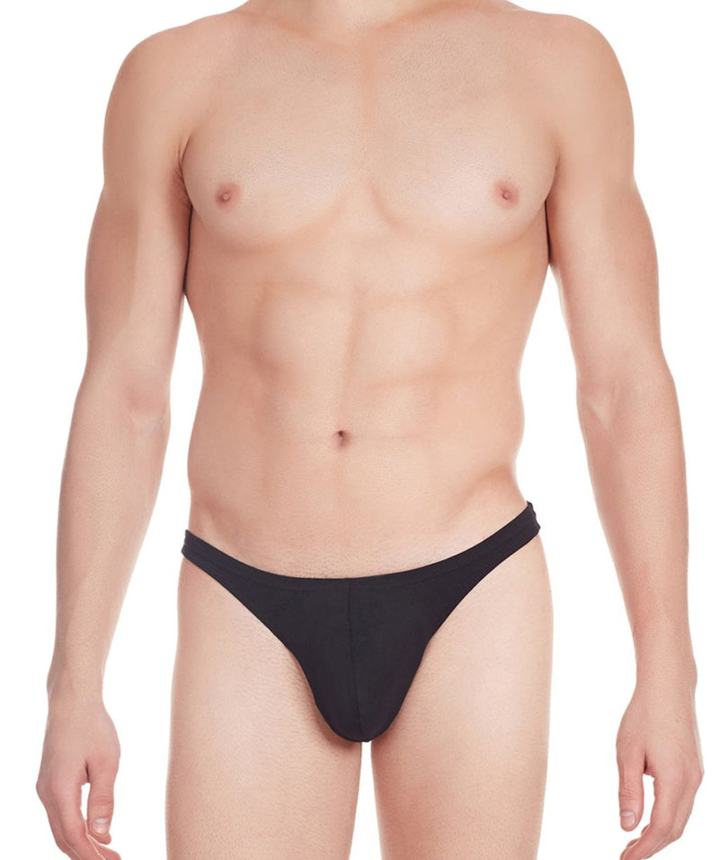 La Intimo Black Men Comfy Thong Cotton Spandex Thong