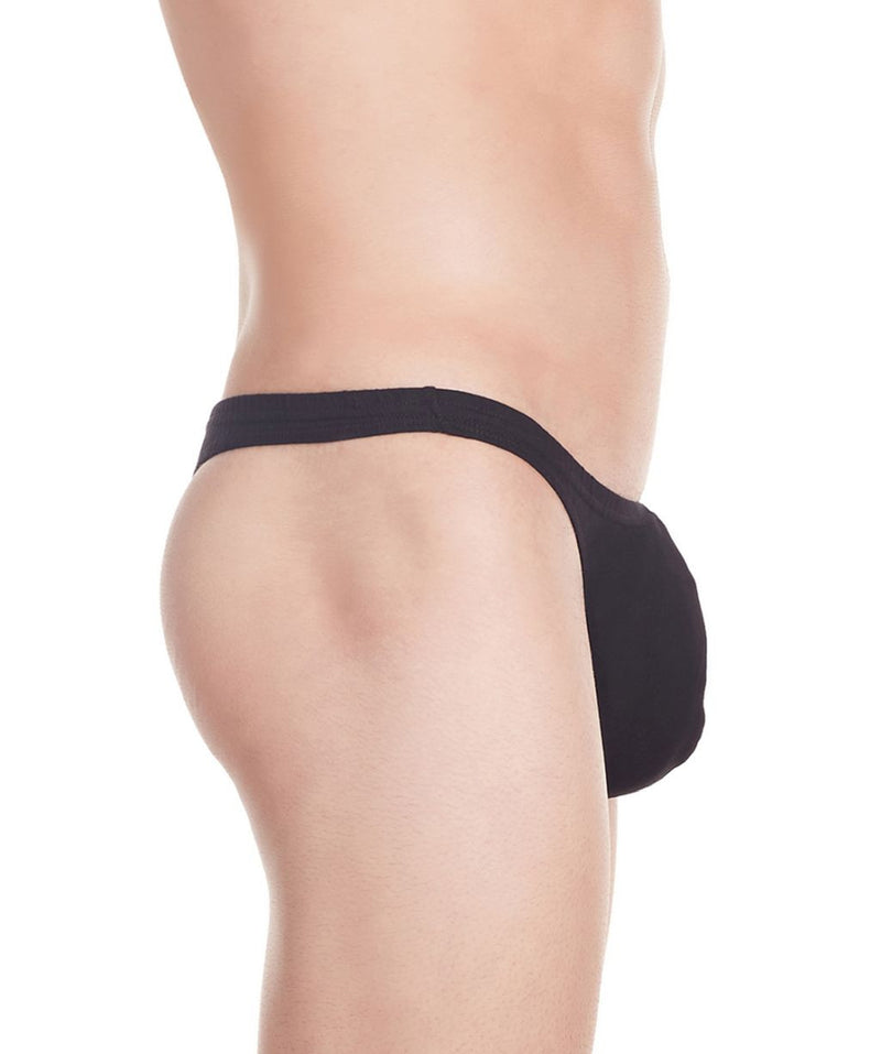 La Intimo Black Men Minimizer Thong Cotton Spandex Thong