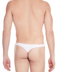 La Intimo White Men Regular Cotton Spandex Thong