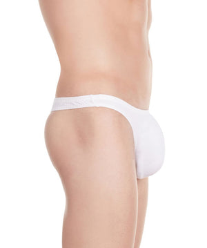 La Intimo White Men Minimizer Thong Cotton Spandex Thong