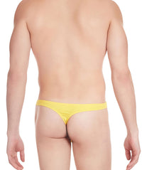 La Intimo Yellow Men Regular Cotton Spandex Thong
