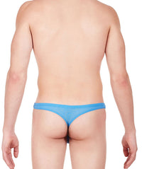 La Intimo Blue Men Regular Nylon Spandex Thong