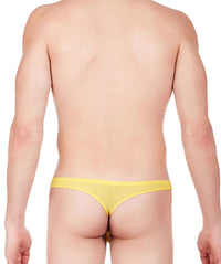 La Intimo Yellow Men Regular Nylon Spandex Thong