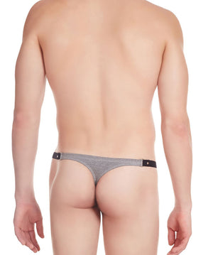 La Intimo Off White Men Minimizer Stylish Designer Cotton Spandex Thongs