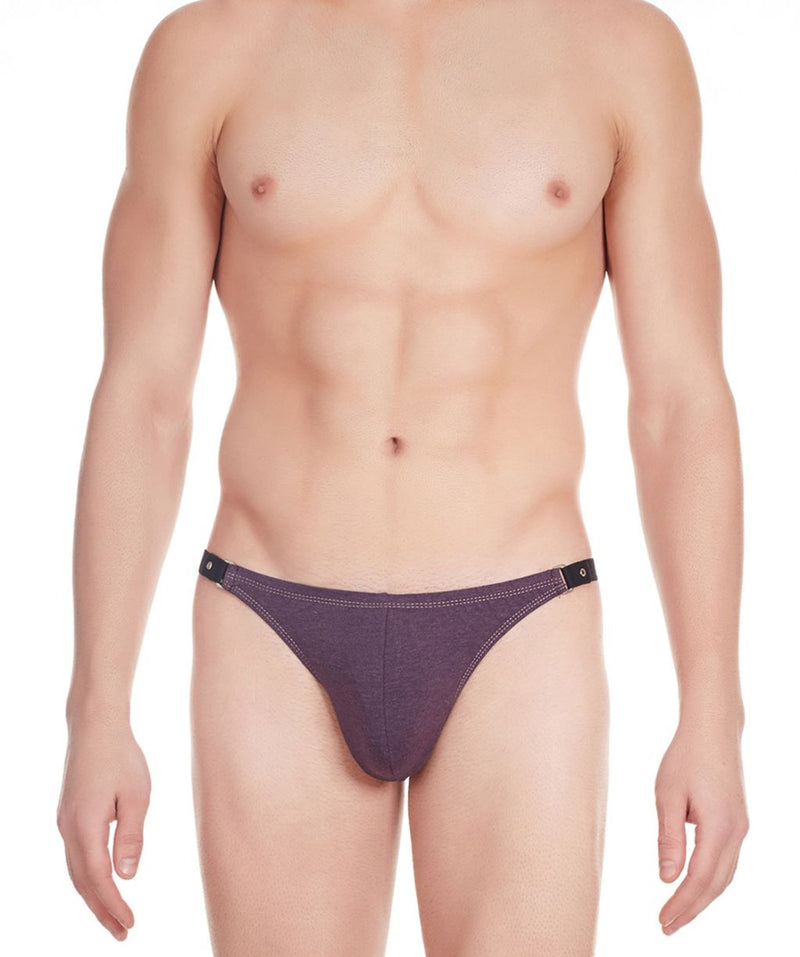 La Intimo Wine Men Tough Guy Thong Cotton Spandex Thongs