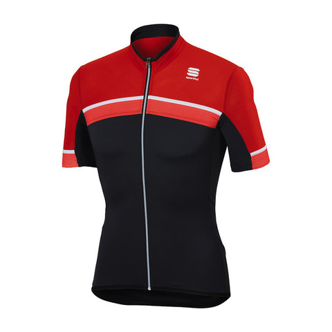 SPORTFUL PISTA JERSEY - ANTHRACITE/FIRE RED