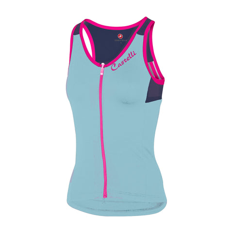 CASTELLI WOMEN'S SOLARE TOP - PALE BLUE