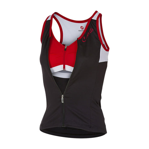 CASTELLI WOMEN'S SOLARE TOP - BLACK