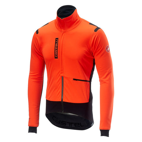 CASTELLI ALPHA ROS JACKET - ORANGE/BLACK