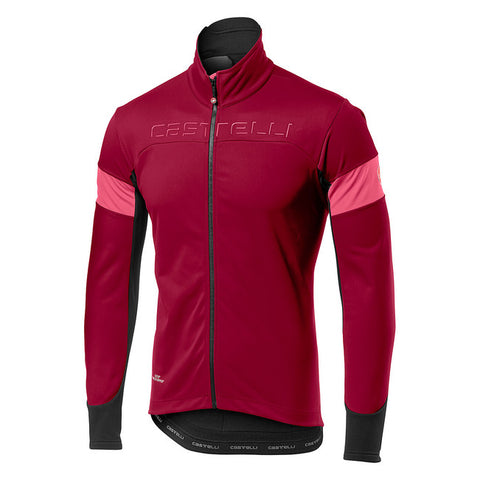 CASTELLI TRANSITION JACKET - MATADOR RED/GIRO PINK