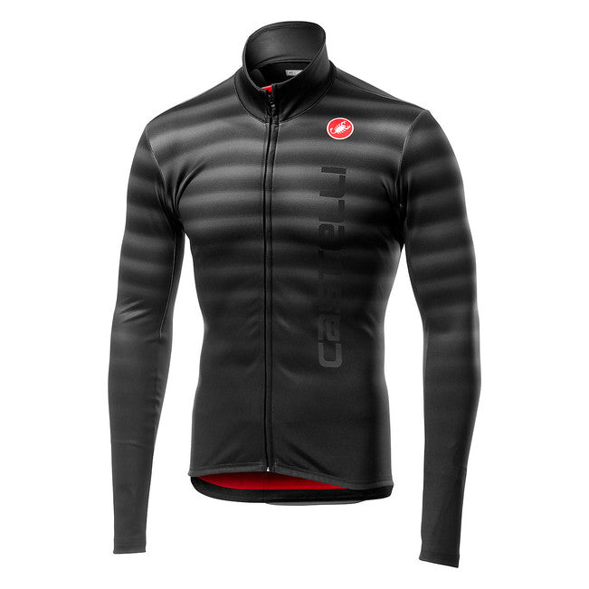 CASTELLI  SCOSSA JERSEY FZ - LIGHT BLACK
