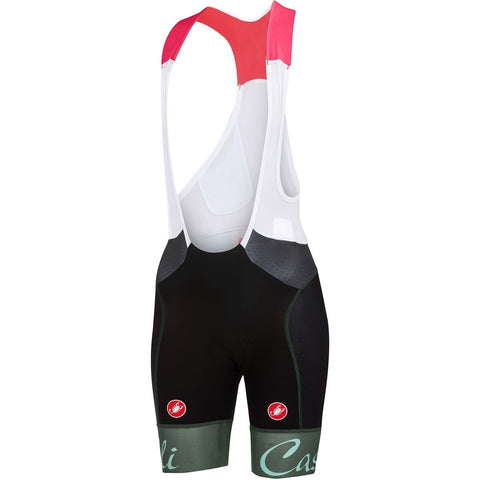CASTELLI WOMEN'S FREE AERO W BIBSHORT - BLACK/FOREST GREY