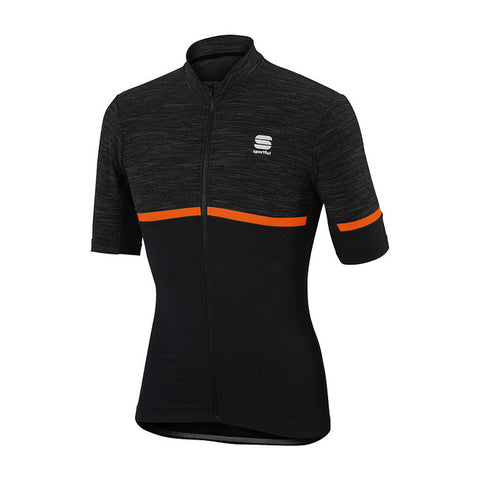 SPORTFUL GIARA JERSEY - ANTHRACITE/ORANGE
