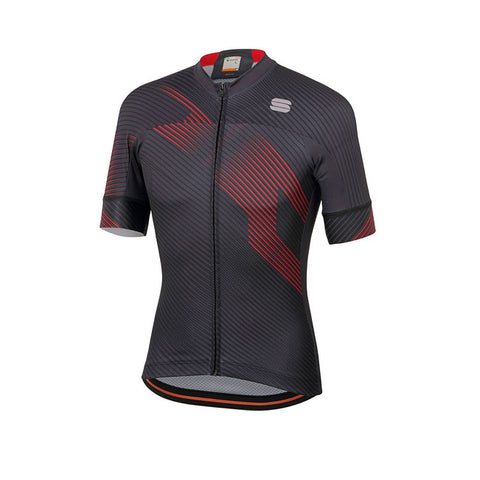 SPORTFUL BODYFIT TEAM 2.0 FASTER JERSEY - ANTHRACITE/RED