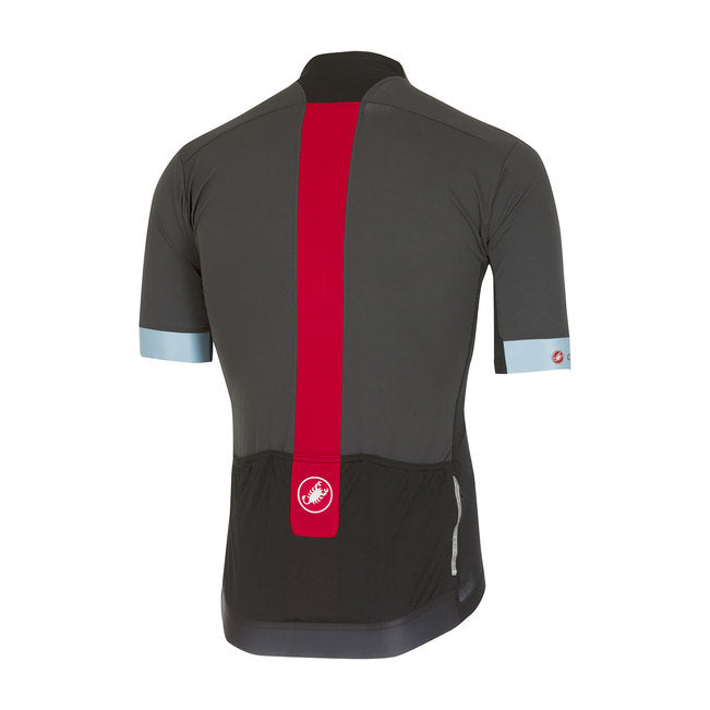 CASTELLI FORZA PRO JERSEY - ANTHRACITE RED 986c41bec