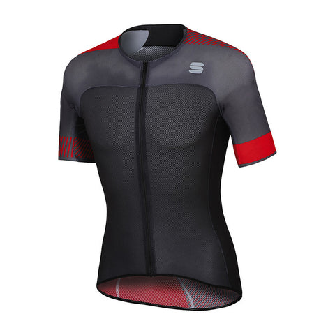 SPORTFUL BODYFIT LIGHT JERSEY - ANTHRACITE/RED
