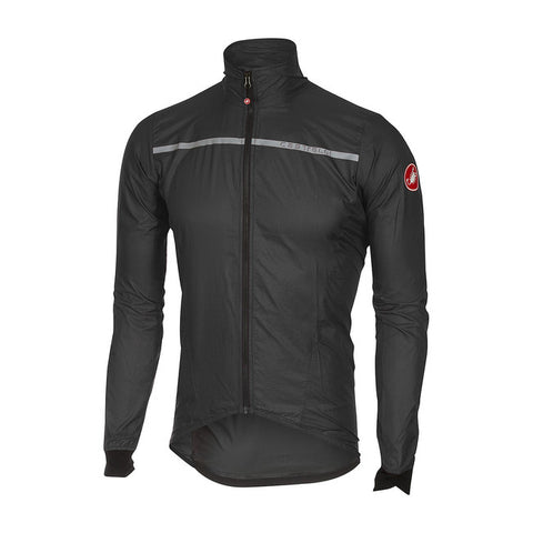 CASTELLI SUPERLEGGERA JACKET - ANTHRACITE/YELLOW FLUO