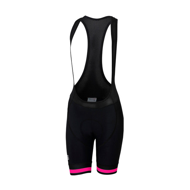 SPORTFUL WOMEN'S BF CLASSIC W BIBSHORT - BLACK/BUBBLE GUM