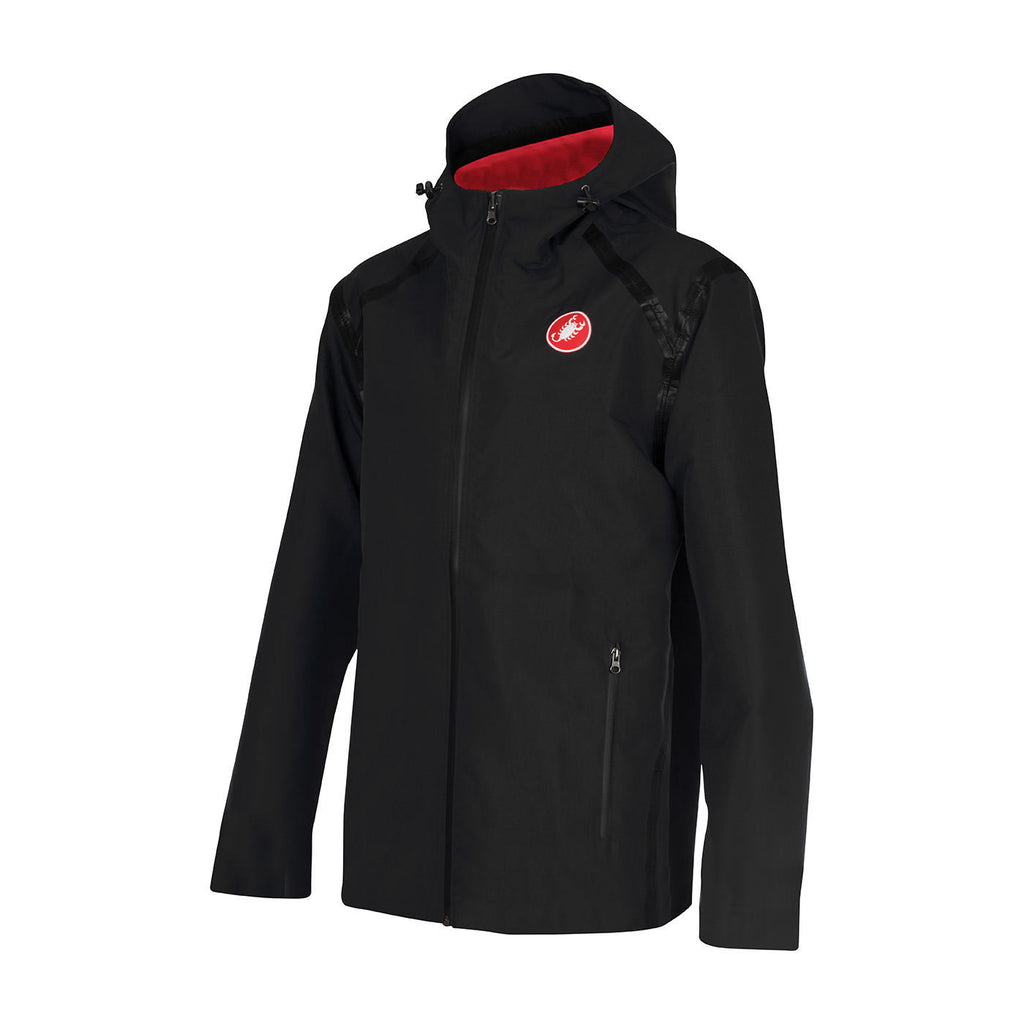 CASTELLI REVERSIBLE RAIN JACKET - VINTAGE BLACK/RED