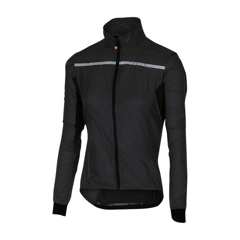 CASTELLI WOMEN'S SUPERLEGGERA W JACKET - BLACK